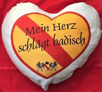 Kissen Herz Baden - Mein Herz schlägt badisch