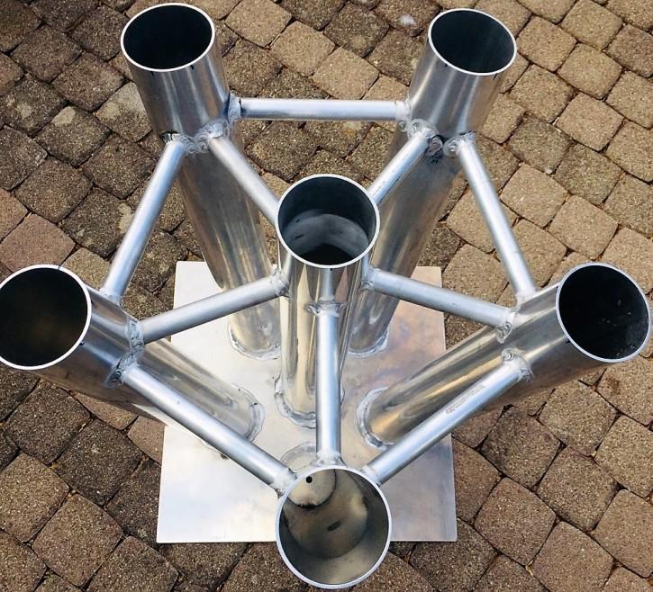 Köcherstern 6-fach Aluminium