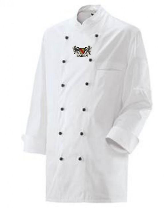 Kochjacke in Weiß mit Wappen Baden