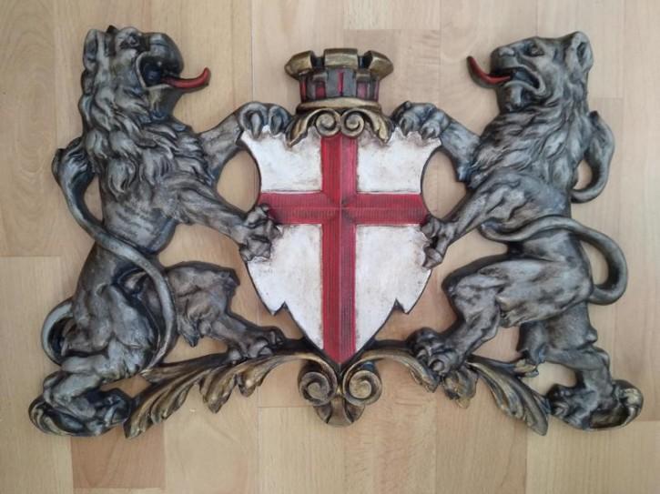 Freiburg Wappen mit Löwen - Relief - durchbrochen