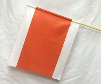 Signalfahne - Weiß /Orange/Weiß Größe ca: 45 x 55 cm
