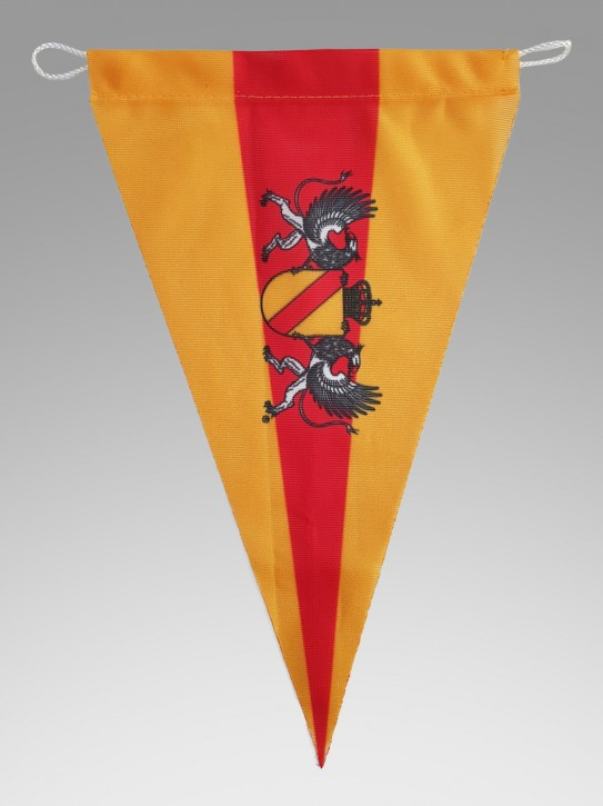 Spitzwimpel Baden mit Wappen