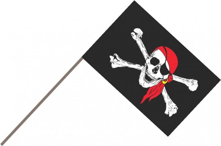Stockfahne Pirat