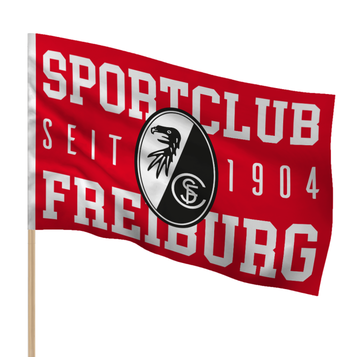 "SC Freiburg Stockfahne ""1904"""