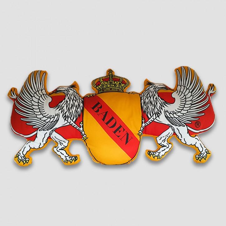 Kissen Wappen mit Greifen Form  - Baden