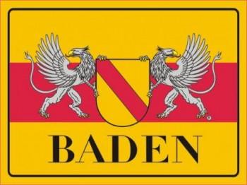 Alu-Schild Baden