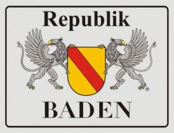 Alu-Schild Republik Baden