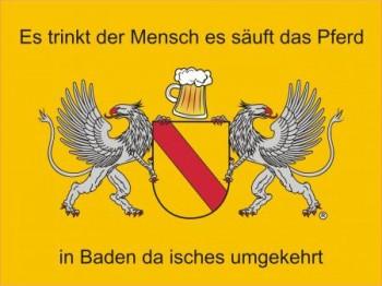Alu-Schild Baden Bier