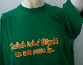Qualitäts-Spruch-Shirt rot / XL