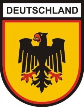 Stoffabzeichen - Aufnäher - Deutschland als Wappenform