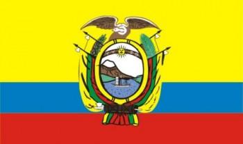 Ecuador mit Wappen