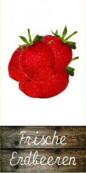 Erdbeer Fahne