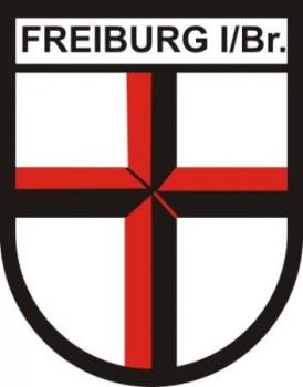 Stoffabzeichen - Aufnäher - Freiburg als Wappenform