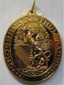 Badner - Medaille mit Greif gold