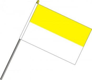 Hängefahne gelb weiß