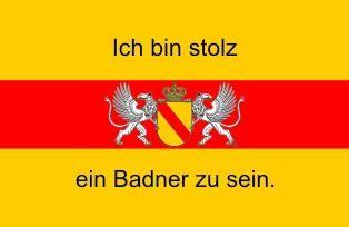Aufkleber Baden mit Wappen und Text 2