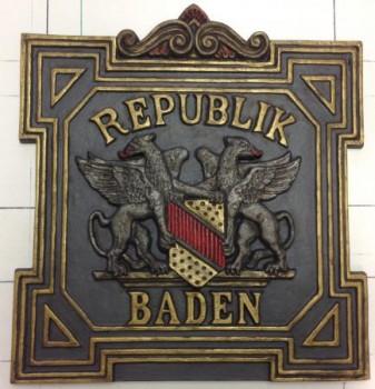 Grenztafel Republik Baden