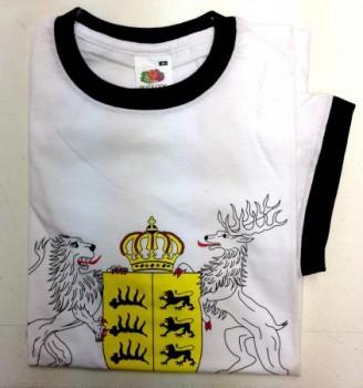 Qualitäts-T-shirt mit Wappen Württemberg