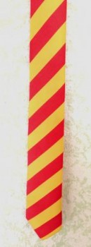 Krawatte Baden Design 2: gestreift gelb / rot / gelb