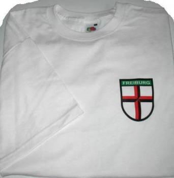 Qualitäts-T-shirt mit Wappen Freiburg