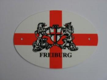 Türschild oval Freiburg