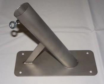 Wandhalter schräg für 28 mm Stäbe - 60 Grad