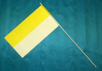 Papierfahnen gelb weiß