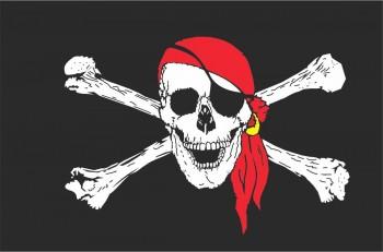 Piratenfahne - 150 x 250 cm