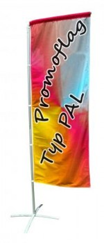 Promo Ausleger / Beachflag  Typ D mit individuellem Motiv