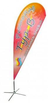 Promoflag / Beachflag Typ B mit individuellem Motiv