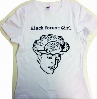 T-Shirt Black Forest Girl Weiß