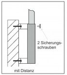 Wandhülse mit Distanz Stahl für 75 mm Mast