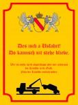 Des isch a Usfahrt Alu Schild