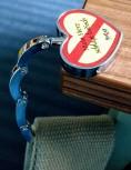 Herz-Taschenhalter für Tisch / Mein Herz schlägt badisch