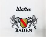 Kochjacke in Weiß mit Wappen Baden mit individuellem Namen M