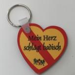 Herz - Schlüsselanhänger Baden - Mein Herz schlägt badisch