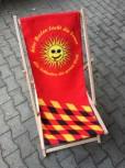 """Liegestuhl """"über Baden lacht die Sonne"""""""