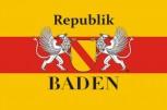 Fahne Republik Baden mit Wappen und Greif