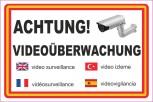 Alu-Schild Achtung Videoüberwachung