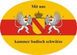 Baden oval mit Wappen und Text