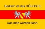 Aufkleber Baden mit Wappen und Text 3