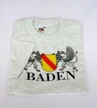 Qualitäts-T-shirt mit Wappen Baden weiß / XXL