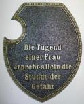 Alu Wappenschild Frau