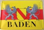 Baden Blechschild