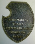 Alu Wappenschild Mann