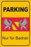 Alu-Schild Kundenparkplatz